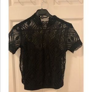 Zara black laced shirt